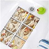 3D three dimensional bathtub paper wash station bathroom wall stickers antislip sticker[zZ]