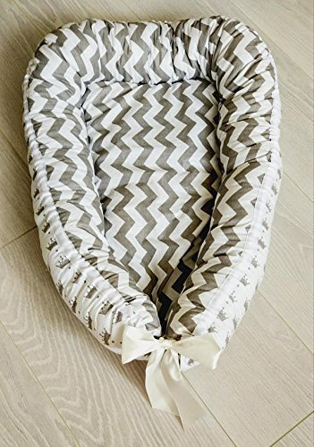 Babynest, baby nest, cocoon, baby cocoon, baby nest bed,crown print,baby bedding,baby shower gift,chevron print,sleeping nest,co sleeper