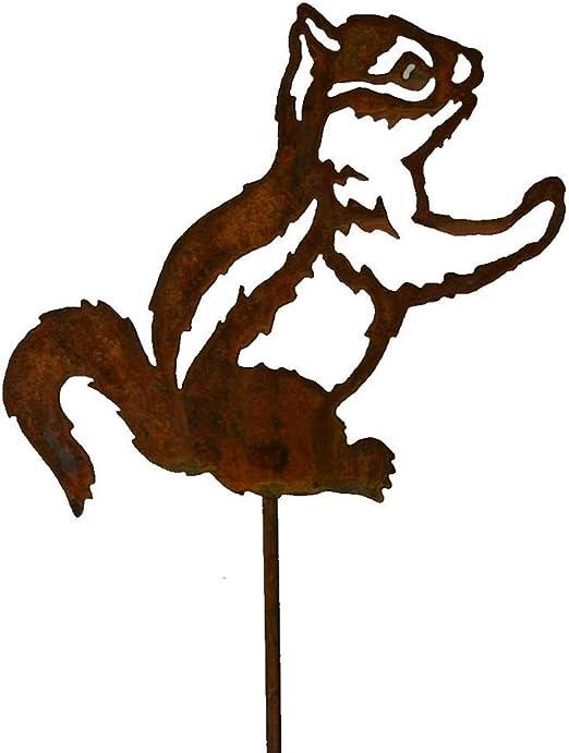 EQT-TEC Tamias Oxidado en Barra Oxidado Figuras Natural Animales Jardín Decoración Decoración Exterior: Amazon.es: Jardín