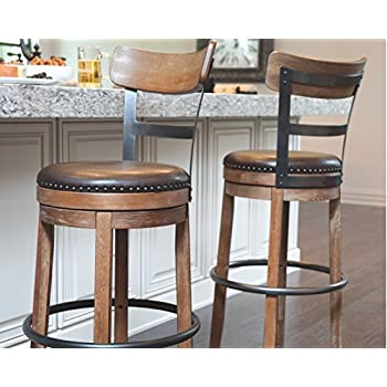 Ashley Furniture Signature Design - Pinnadel Swivel Bar Stool - Pub Height - Light Brown