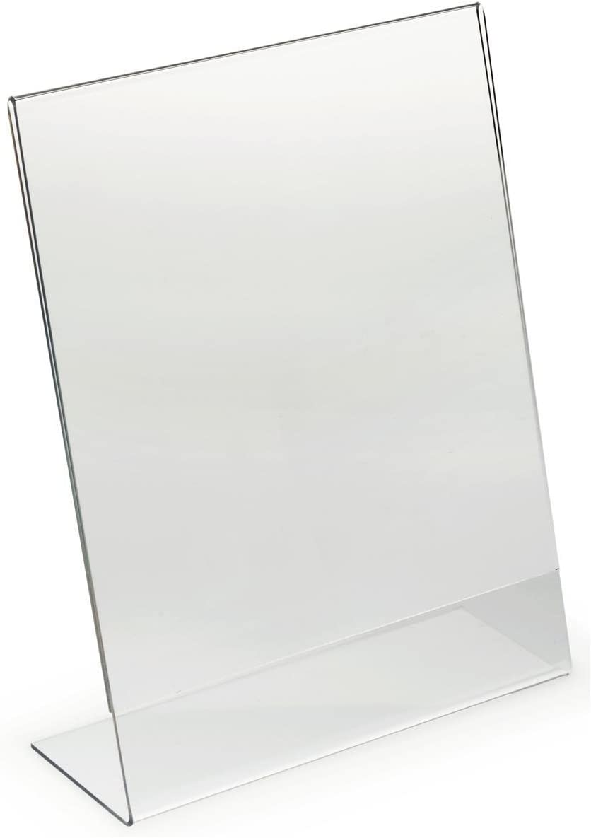 Dazzling Displays Acrylic 8.5 x 11 Slanted Sign Holders