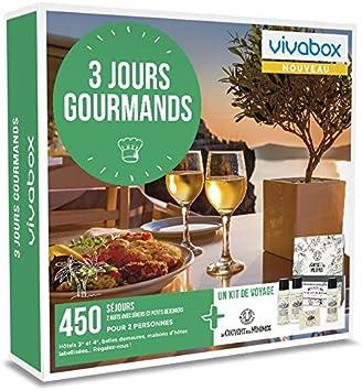 Vivabox + 1 kit de voyage Coffret cadeau couple WEEK-END GOURMAND- 325 week-ends gourmands