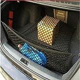 Juntu Black Mesh Vehicle Organizer Cargo net/Heavy Duty net. Grocery Lover's Favorite/Tool Free Installation. for Car Vans SUV for Mercedes-Benz GL400 GL450 GL500