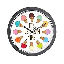 CafePress It's Ice Cream Time Unique Decorative 10 Wall Clock