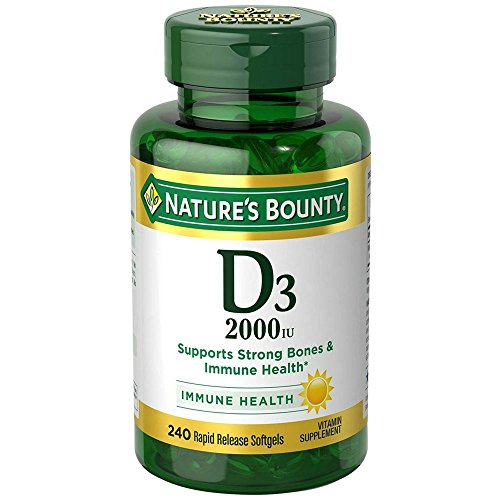 Nature's Bounty D-2000 IU Softgels, Super Strength 200 ea (Pack of 4) by Nature's Bounty