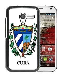 New Unique Custom Designed Case With cuba coat of arms Black For Motorola Moto X Phone Case