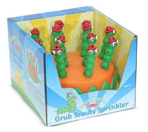 Image of Melissa & Doug Sunny Patch Grub Scouts Sprinkler Toy With Hose Attachment