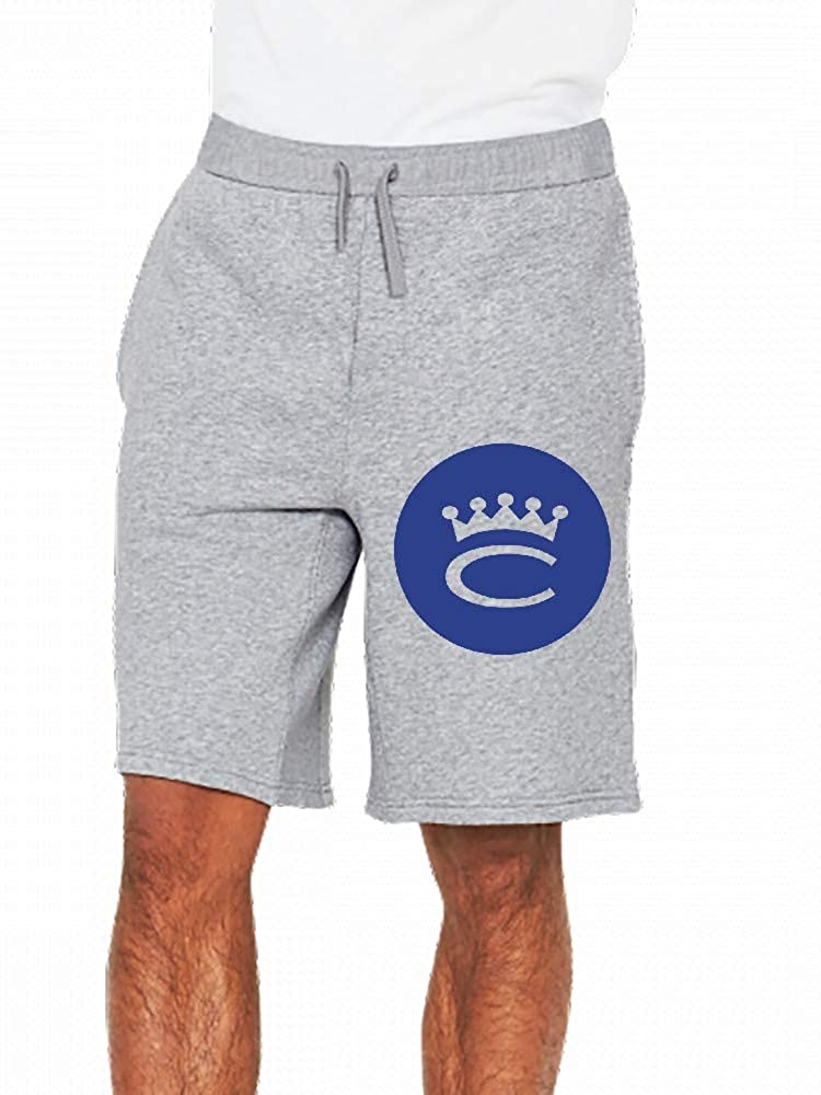 JiJingHeWang Crown Logo Mens Casual Shorts Pants