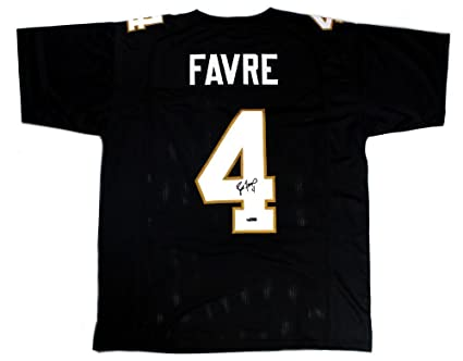 56468103 Signed Brett Favre Jersey - Southern Miss Golden Eagles Black Custom ...