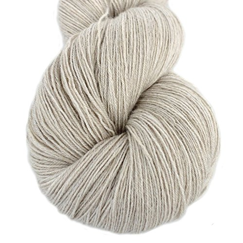 Lotus Yarns Swan Lake Lace Weight 50% Cashmere 40% Fine Wool 10% Angora Blended Hand Knitting Yarns for Comfortable Baby and Adult Clothing for Fashion Garment Baby Clothe (01-Ivory) ()