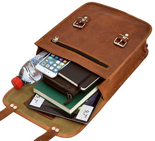 Gusti Leder nature Bennie zaino di pelle tempo libero città passeggio università lavoro classico vera pelle vintage marrone K60b