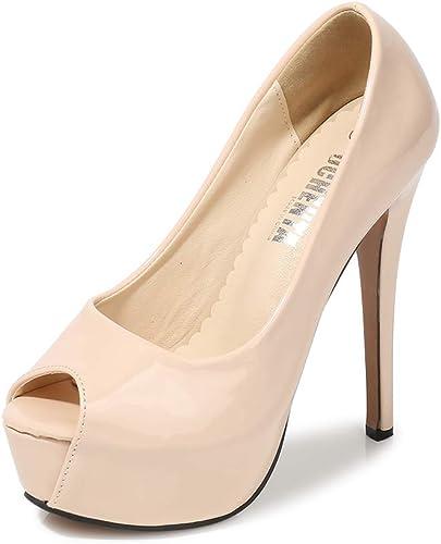 Details about  /Womens Peep Toe High Stiletto Heel Shoes Platform Back Zip Hollow Rivet Decor Sz