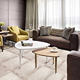 GreenForest Coffee Table for Living Room 31.5 Side Table Modern Small End Table with Metal Legs Two-Tone Color, Set of 2