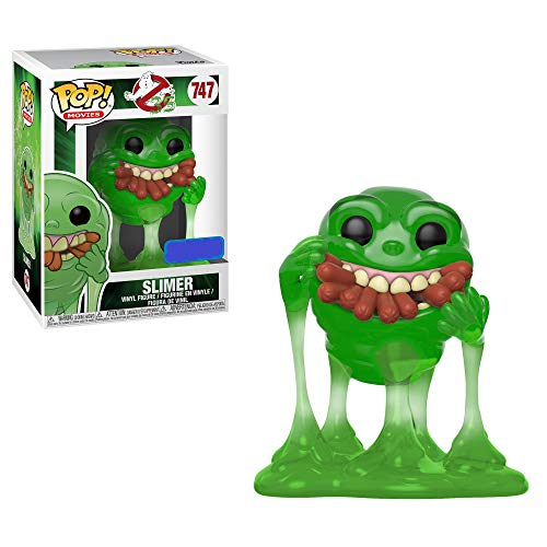 Funko Pop! Movies: Ghostbusters - Slimer with Hot Dogs (Translucent) Exclusive]()