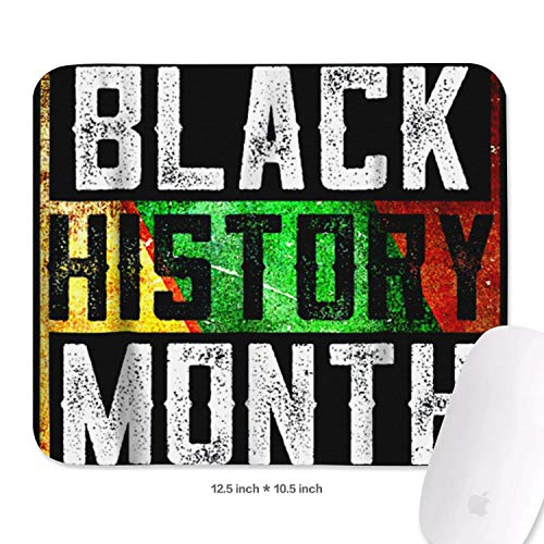 Distressed Black History Month Cool Games Mouse Pad with Non-Slip Rubber Mesh Office Mouse Pad 20x22.7cm 3mm