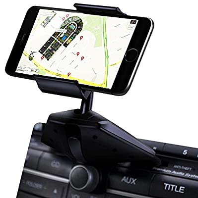 IPOW Easy Installation CD Slot Smartphone Car Mount Holder Cradle for iPhone Samsung Galaxy LG Nexus from IPOW