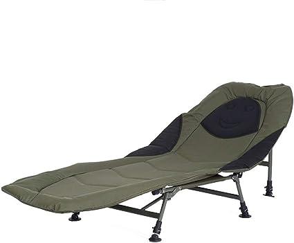 LIUXING-Home Cama individual plegable con 6 patas, silla de ...