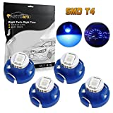 Partsam 4pcs T4 Neo Wedge AC Climate Controls Cluster Dash Light Bulb Blue 10mm 12V for 2005-2010 Toyota Tacoma