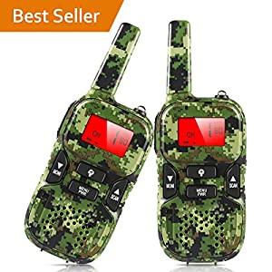 Walkie Talkies for Kids, 22 Channel 2 Way Radio 3 Mile Long Range Kids Toys and Handheld Kids Walkie Talkies, Best Gifts and Top Toys for Boy and Girls Age 3 4 5 6 7 8 9 for Outdoor Adventure Game