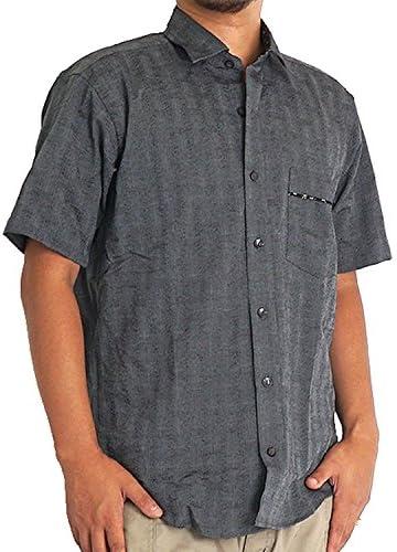 シャツ メンズ 大きいサイズ 半袖 しじら 紳士 浮雲 吸水速乾 パナマ織り 花柄 しじら織 シアサッカー 生地 サッカー 2L 3L 4L 5L