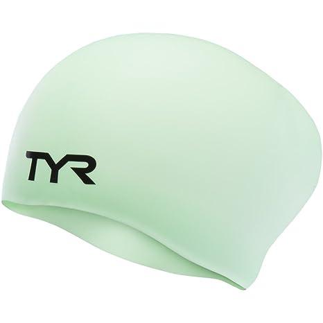 TYR Gorro de natación de Silicona para Pelo Largo, Mint: Amazon.es ...