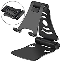 Portable 3-in-1 Universal Phone Stand, Laptop, Ipad & Tablet Stand, KSENDALO Phone Holder, Adjustable/Foldable/Sturdy (Black)