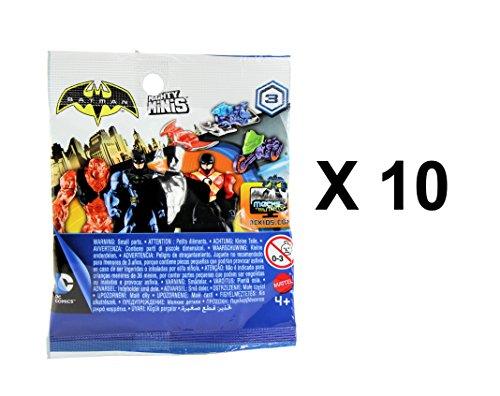 Figures Batman Mini Series - DC Comics Batman Mighty Minis Series 3 Mini Figure & Vehicles Blind Bags Pack of 10