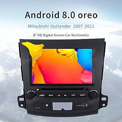 Dasaita Android 8.0 - Estéreo para coche para Mitsubishi Outlander 2007 2008 2009 2010 2011 Octa Core 4 GB 32 GB DVD GPS Navegación Audio Head Unidad ...