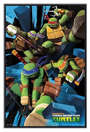 Amazoncom Teenage Mutant Ninja Turtles Framed Poster Quality
