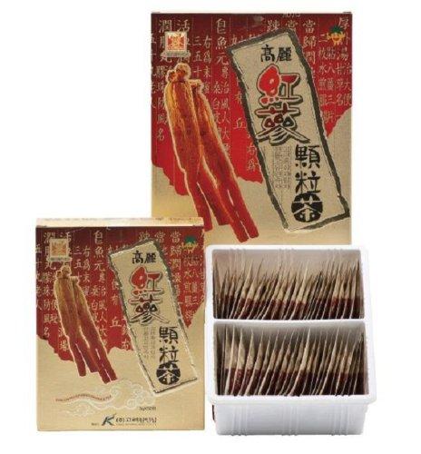Korean Red Ginseng Granule Tea 3g (0.10oz) x 50 bags (Korean Ginseng Tea Bags)