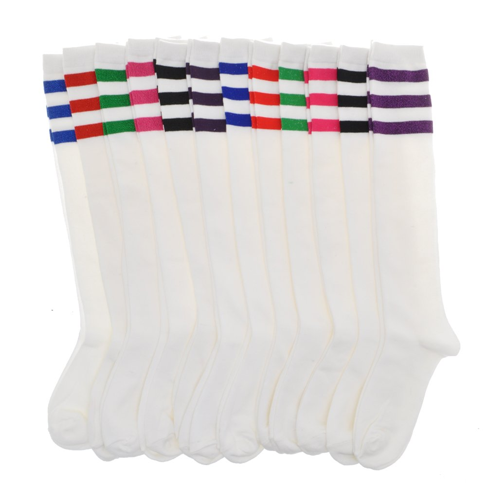Angelina Referee Knee High Socks 6 or 12-Pair-Pack #2539WS 2539WS_PA