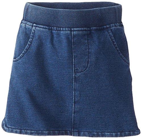 Splendid Little Girls' Knit Denim Pull On Skirt, Medium Stone, 5-6