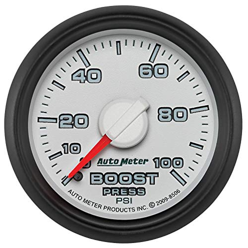 Autometer Factory Match 52.4mm Mechanical 0-100 PSI Boost Gauges 3 pressure Ranges (am8506)