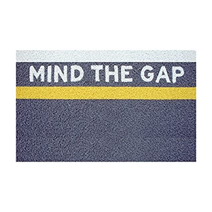 Mind The Gap Doormat, Front Door Doormats, Funny Doormats, Decorative Door  Mats,