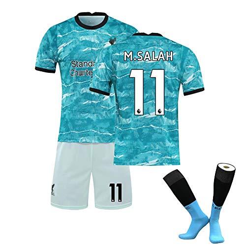 20-21 Nueva Temporada Niños Adultos Summer Football Sports Sportswear, Club 14# Henderson, 11# Salah, 10# Mane Jersey…