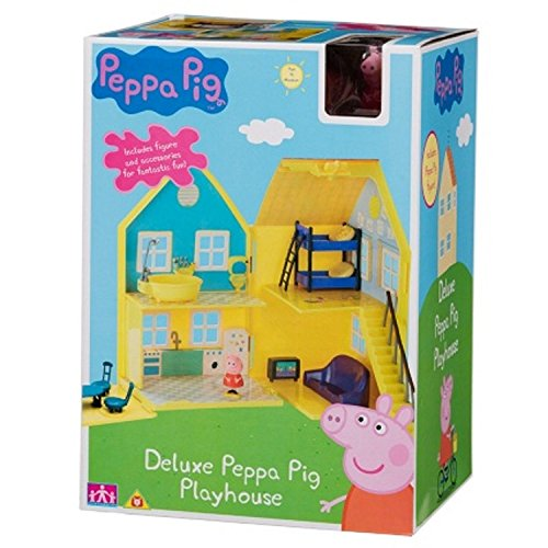 Deluxe Peppa Pig playhouse includes figures and accessories for fantastic fun (Deluxe Playhouse)