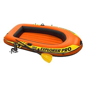 Intex 58358NP - Barca hinchable Explorer Pro 300 remos+hinchador