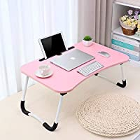 Tarkan Stud Foldable Wooden Mini Lapdesk for Couch, Sofa Bed, Study Tray Table Stand for Writing