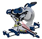Ainfox 15 Amp 12-Inch Dual Bevel Sliding Compound Miter Saw with Laser and LED Work Light