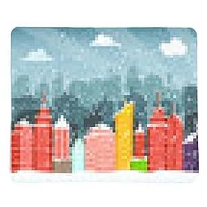 alfombrilla de ratón Ciudad en invierno (Navidad) - rectangular - 23cm x 19 cm