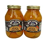 Amish Wedding Foods Old Fashioned Peach Halves 2 - 32 oz Jars