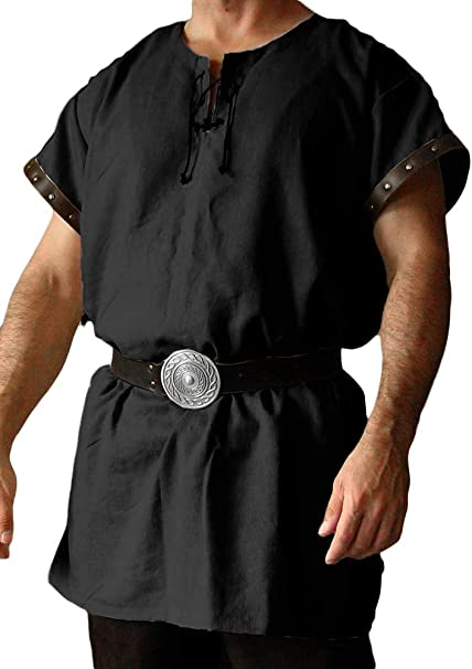 Mens Medieval Shirt Pirate Game Of Thrones Medieval Fancy Dress Costume Top