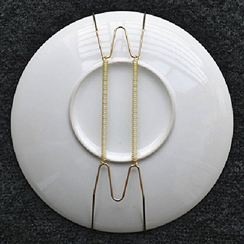 "Invisible Wall Plate Hanger, Pack of 5 Tray Display Hanger, 8'' to 16'' Wire Expandable Dish Holders for 7.8"" to 16.5"" Decorative Tray (8'')"