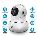 Cámara de Vigilancia Mascota IP Monitor de Bebé Niñera CAM 1080P WiFi LITTLELF Interior con Detección de Movimiento Pan/Tilt Audio Bidireccional Ilamada Inversa