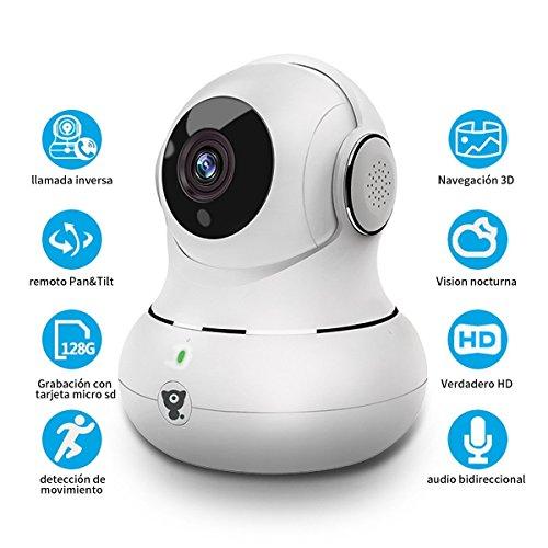 Cámara de Vigilancia Mascota IP Monitor de Bebé Niñera CAM 1080P WiFi LITTLELF Interior con Detección de Movimiento...