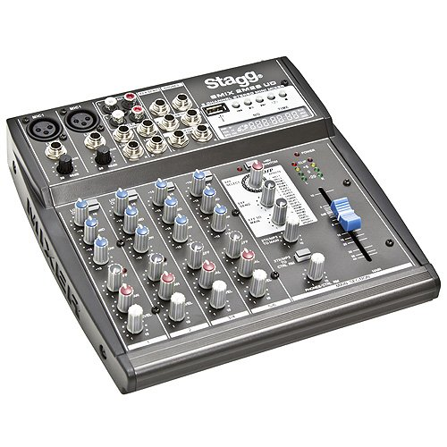 Stagg 58.741 Mixer 2 Mono/2 STE.IN USB DSP Gris 25020043