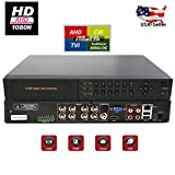 Evertech HD 1080N 16 Channel 4in1 AHD/ CVI/ TVI Analog High Definition HDMI Cluod Security Camera DVR System with Alarm (Viewcan App) (8 Channel (2))