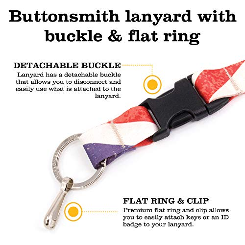 Buttonsmith Old Glory Flag Premium Lanyard with Buckle and Flat Ring - Made in USA by Buttonsmith (Image #4)