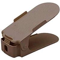 Organizador de Sapato Rack com 20 unidades Marrom Regulável