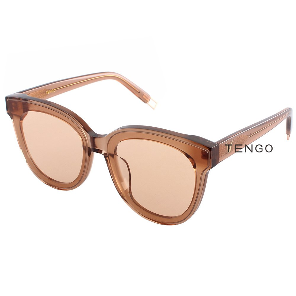 Summer Cool Korean Oversized Flat Pink Sunglasses for Women In Scarlet
